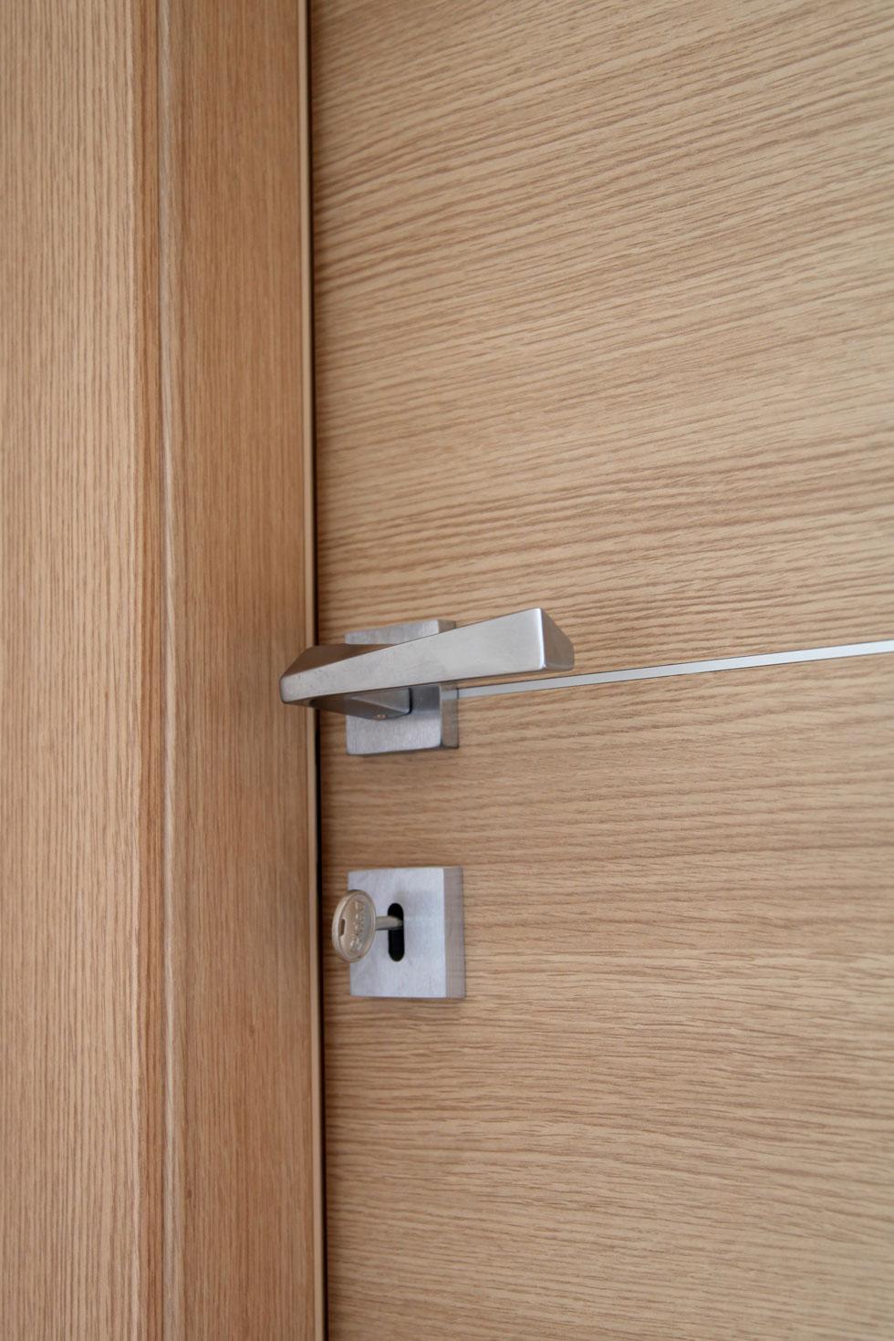 Arche 39 ambienti particolare maniglia cromo satinato - Maniglie porte interne cromo satinato ...