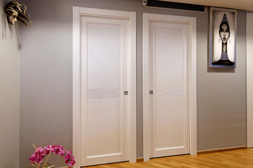 ARCHE\' AMBIENTI | Porte scorrevoli interno muro laccato bianco con ...
